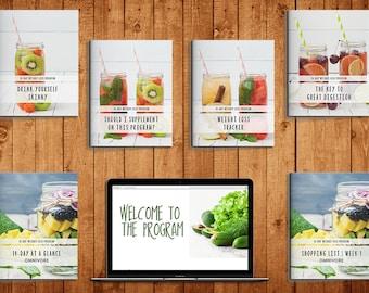 Exclusive Diet 2 Weeks Weight Loss + Vegetarian Program- Planner Printable   Weight loss    digital download   diet coke   Food   Fitness