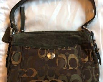 Vintage Coach Camouflage Handbag