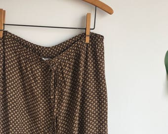 Vintage 90's Orvis Brown Draw String Plus Size Pants Size XL
