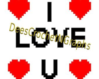 I LOVE YOU  2C GRAPHGHAN