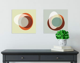 Circles Set 3 - Abstract, Collage, Color, 8x8, Square, Set, Modern, Geometric, Clean Design, Wall Art, Digital Download, Printable