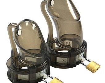 BON4plus Male Chastity Device Silicone Transparent Black