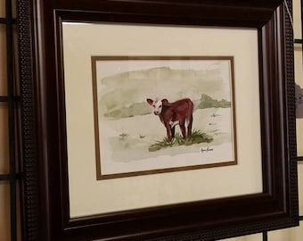 Hereford Calf 8x10