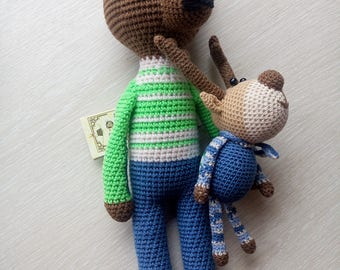 Baby bear Little bear Cutie Teddy bear Handmade baby toy Crochet bear toy Plush bear Nursery decor Baby shower gift Amigurumi Interior Doll