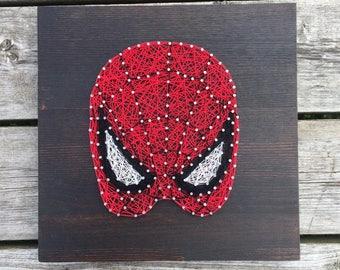 string art wall decor, spiderman, marvel