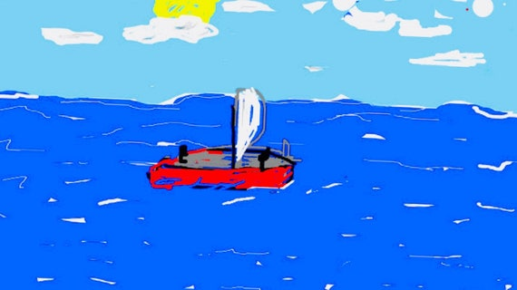 Small sailboat - 2 - Fine Art Prints