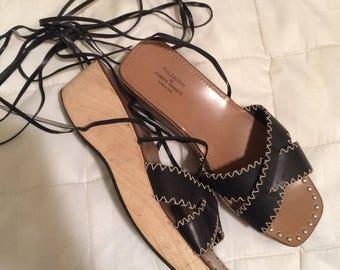 Philosophy di Alberta Ferretti Ankle Tie Platform Sandals