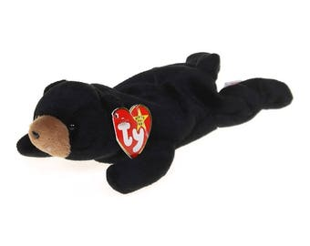 Ty Beanie Babies Blackie the bear 1993 Generation 4 Version 5