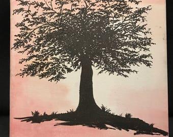 Original Artwork - Autum Silhouette Tree