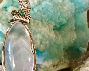 Phantom quartz pendant