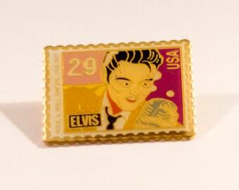 Elvis Stamp Pin
