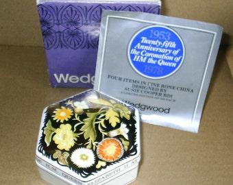 Wedgwood Susie Cooper Queen Coronation Jubilee Hexagonal Box