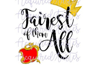 Fairest of them All SVG