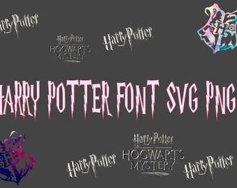 Harry Potter Font SVG Harry Potter SVG Digital File Individual Files Stencil Vector Cut File Cricut Designs Tshirt Decal Iron on