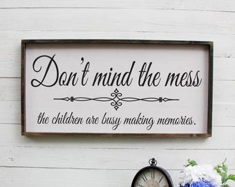 New Parent Gift, Gift for New Mom, Parent Gift, New Mom Gift, Making Memories Sign, Children Making Memories,  Rustic Wood Sign, Sign