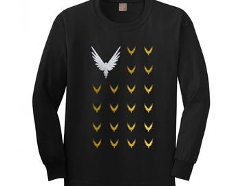 Logan Paul Multi Maverick Graphic Long Sleeve t-shirt top, Be A Maverick Logang shirt Kids Youth & Adults