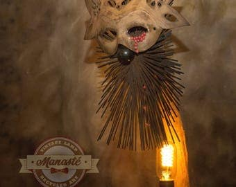 """Driftwood - OOAK - handcrafted lamp. """"True love"""" collection: unknown tears."""