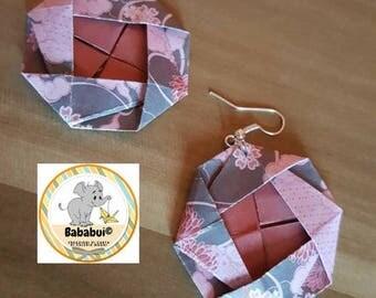Cherry Blossom Earrings _ Origami Paper