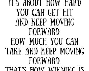 Rocky Motivation Speech Print