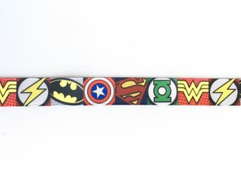 """Superhero 7/8"""" 22 mm Grosgrain Ribbon for Hair Bows Scrapbooking Crafts Party Cake Birthday Decoration"""