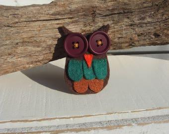 Owl Brooch (Purple)