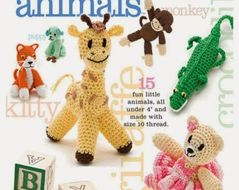 Crochet Pattern- Itty Bitty Animal Crochet Pattern  ,Amigurumi Ebook, Crochet Amigurumi English Pdf Pattern , EBook/ PDF/Instant Download
