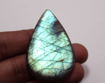 85.50Cts Natural Multi Flash Labradorite Pear 50X32X6  mm Labradorite Loose Gemstone Amazing & Beautifull Labradorite Nice Flash AA-83