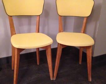Chair 50s leatherette Scandinavian style