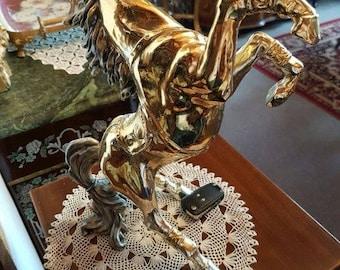 Antique silver horse sculpture