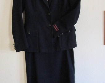 Vintage British WWII 1950's Red Cross Uniform Size 8 & Hat