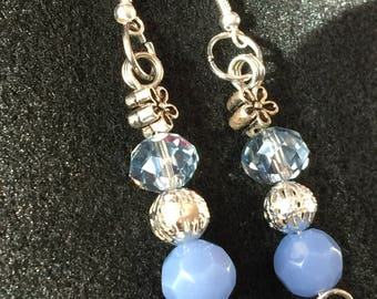Winter Blues Dangle Earrings