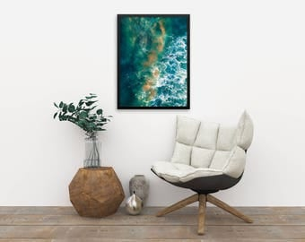Galactic Waters, Surf Aerial Photography, Drone Photography, Large Art Prints, Large Art Photography, Large Wall Art, Extra Large Wall Art