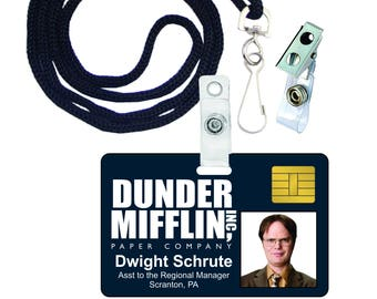 Dwight Schrute The Office Dunder Mifflin Novelty ID Badge for Costume & Cosplay