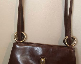 "Jane Shilton ""Japelle"" Brown Vintage Handbag"