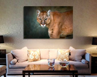 Puma Wall Art Puma Canvas Print Puma Large Wall Decor Puma Canvas Art Puma Painting Puma Poster Print Puma Home Decor Gift for She Artwork