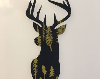 Deer Head Sew-on Patch