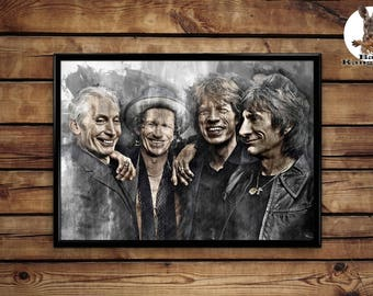 The Rolling Stones Print  wall art hme decor poster