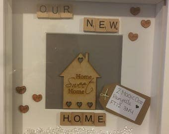 Our New Home Personalised Scrabble Frame