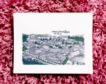 Architecture Greeting Card - Jeonju Hanok Village