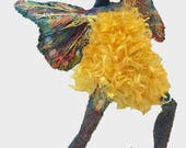 winged Dancer Art Doll