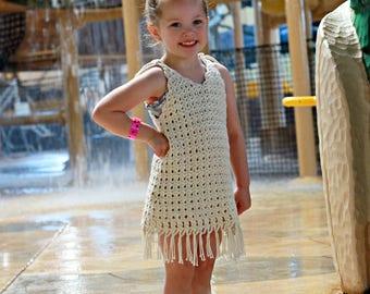 Crochet Cover Up Pattern - Bathing Suit Cover Up Pattern - Crochet Dress Pattern - Beach Cover Up Pattern Baby 12 mos - Girls 18