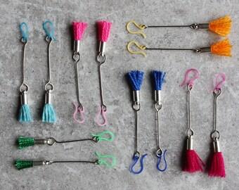 Tassel Earrings, Summer Jewelry, Beach Jewelry, Boho Earrings, Colorful Jewelry, Summer Fashion, Turquoise Tassel Blue Tassel Orange Tassel