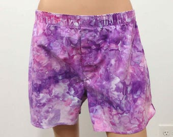 Boxer Shorts US Size L 35-36 GAP Hand Dyed Large Mens Underwear Underpants Skivvies Fun Colorful Playful Novelty Purple Lilac Lavender Pink