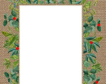 Tropical Holiday Stationary Template
