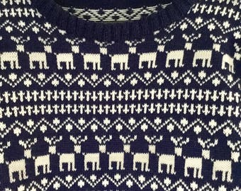 Christmas Reindeer Knit Sweater