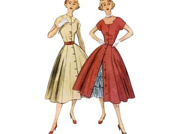 60s Fit and Flare Dress pattern Peekaboo Petticoat pattern Full Skirt Dress pattern vintage 34-28-37 Cocktail dress pattern Simplicity 3815
