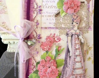 Birthday Card Regency Lady OOAK