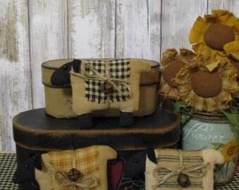 Primitive Sheep Bowl Filler Ornies Set of 3