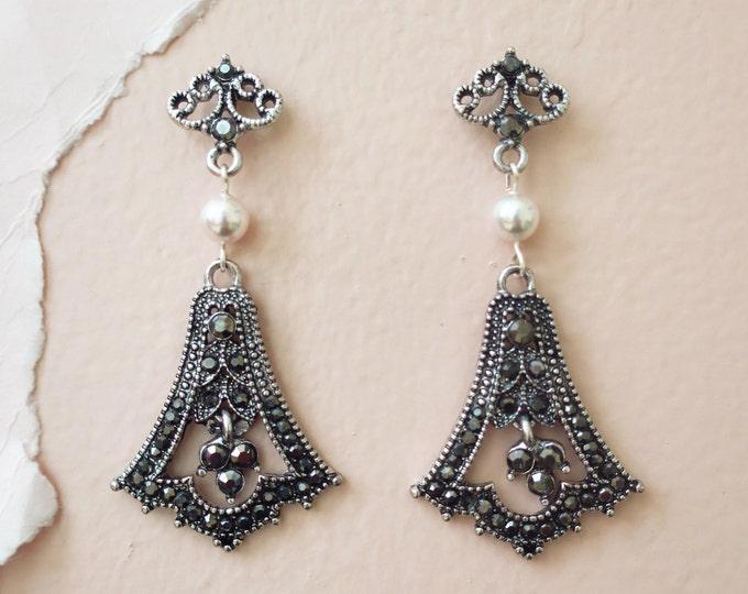 Art Deco Style Wedding Earrings