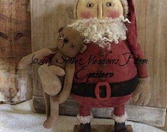 Jolly Round Santa and bear Epattern